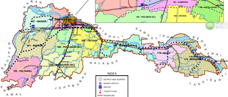 patna district bihar assembly elections 2015 constituency map image