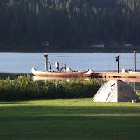 War canoe made it to Mica Beach