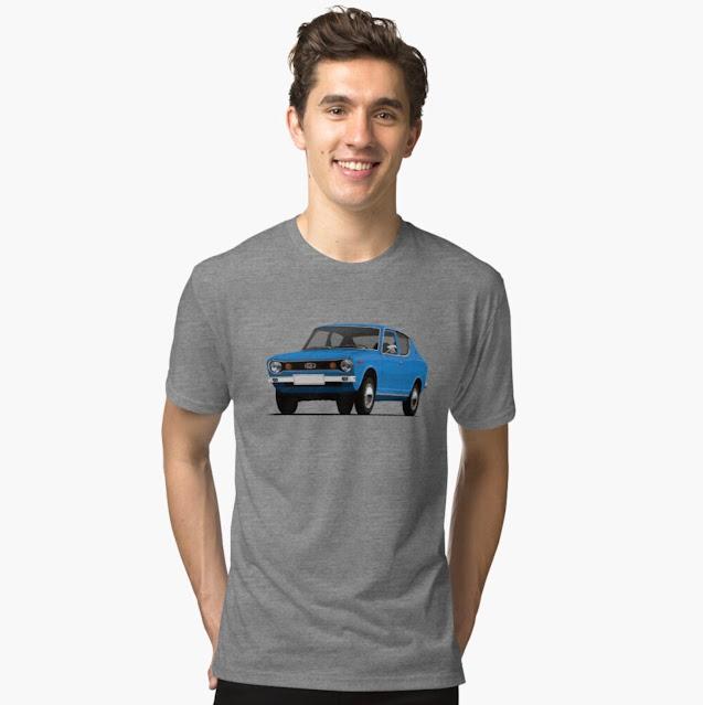 Blue Datsun 100A (Cherry) t-shirt