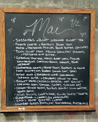 Mae PDX dinner menu on September 2, 2015