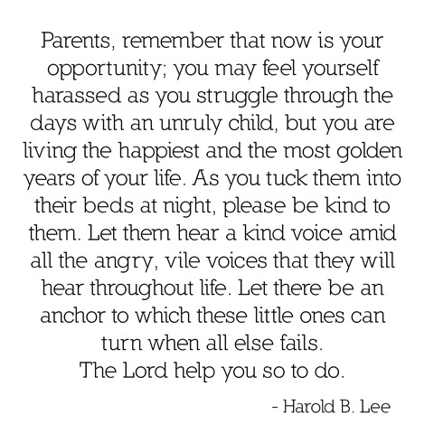 golden years with children -- harold b. lee