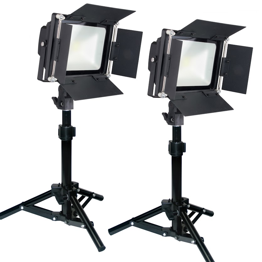 Led Powerlight 200w Photography Table Top Lighting Kit Barndoor