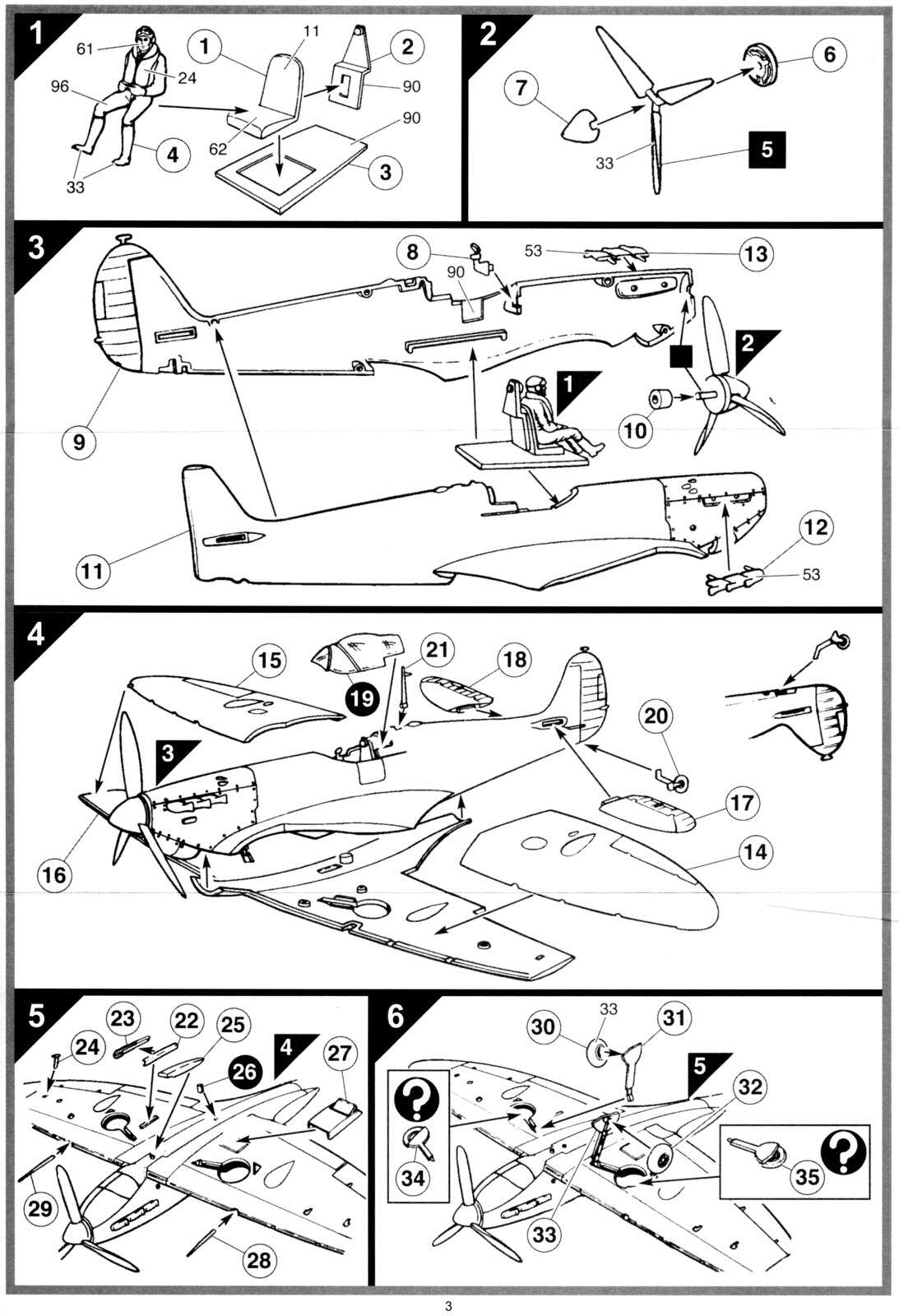 airfix supermarine spitfire mk1a instructions