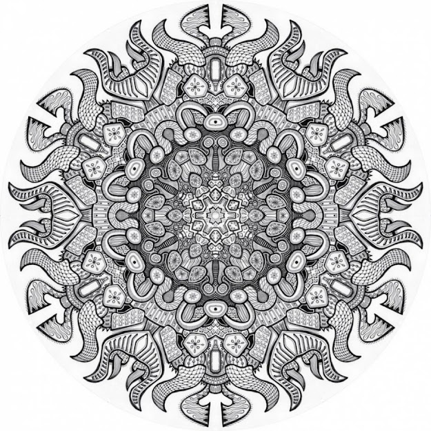 Advanced Mandala Coloring Pages Printable Advanced Christmas