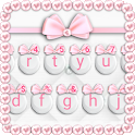 Girly Pink Bows Keyboard Theme icon