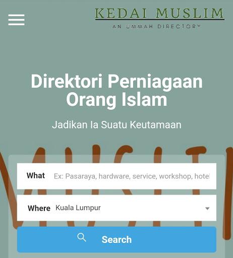 kedaimuslims.com HUBUNGKAN USAHAWAN MUSLIM