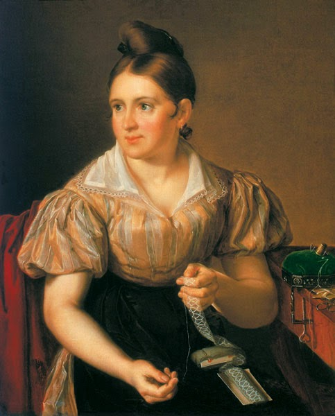 Vasily Tropinin - Woman Sewing
