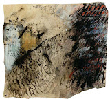 paysage avec du rouge papier t.mixte 1996