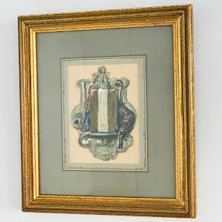 French 19th C. Watercolor Painting
