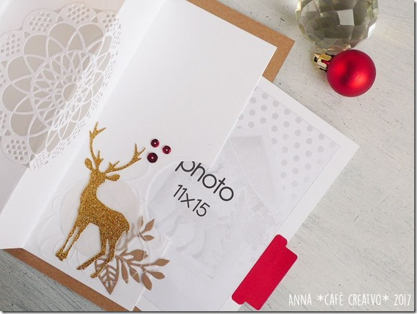 Mini album di Natale luminoso da regalare