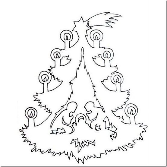 patrones para recortar ventanas navidad  (9)