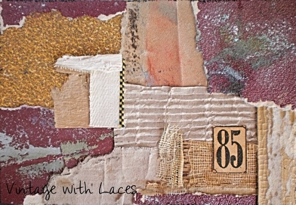 ICAD Mixed Media Collage by Vintage with Laces