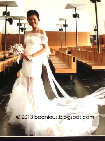 Hip wedding gown, Feathers on gown, heirloom wedding gown