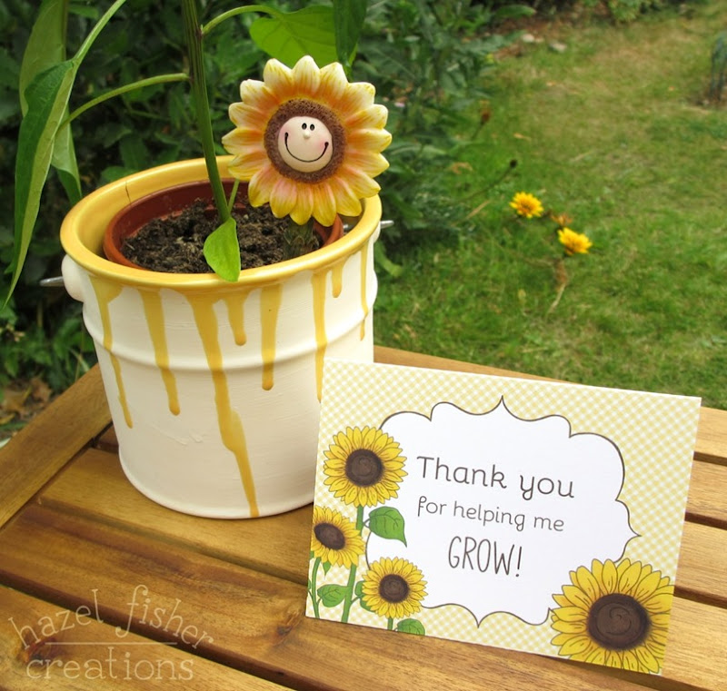 2015 July 01 Printable thank you teacher appreciation sunflower card hazelfishercreations 1