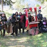 La Vile Mesnie, sans leur baron mais avec la chariote