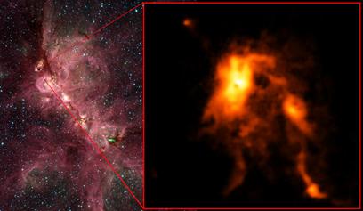 Nebulosa Pata de Gato e o berçário da protoestrela