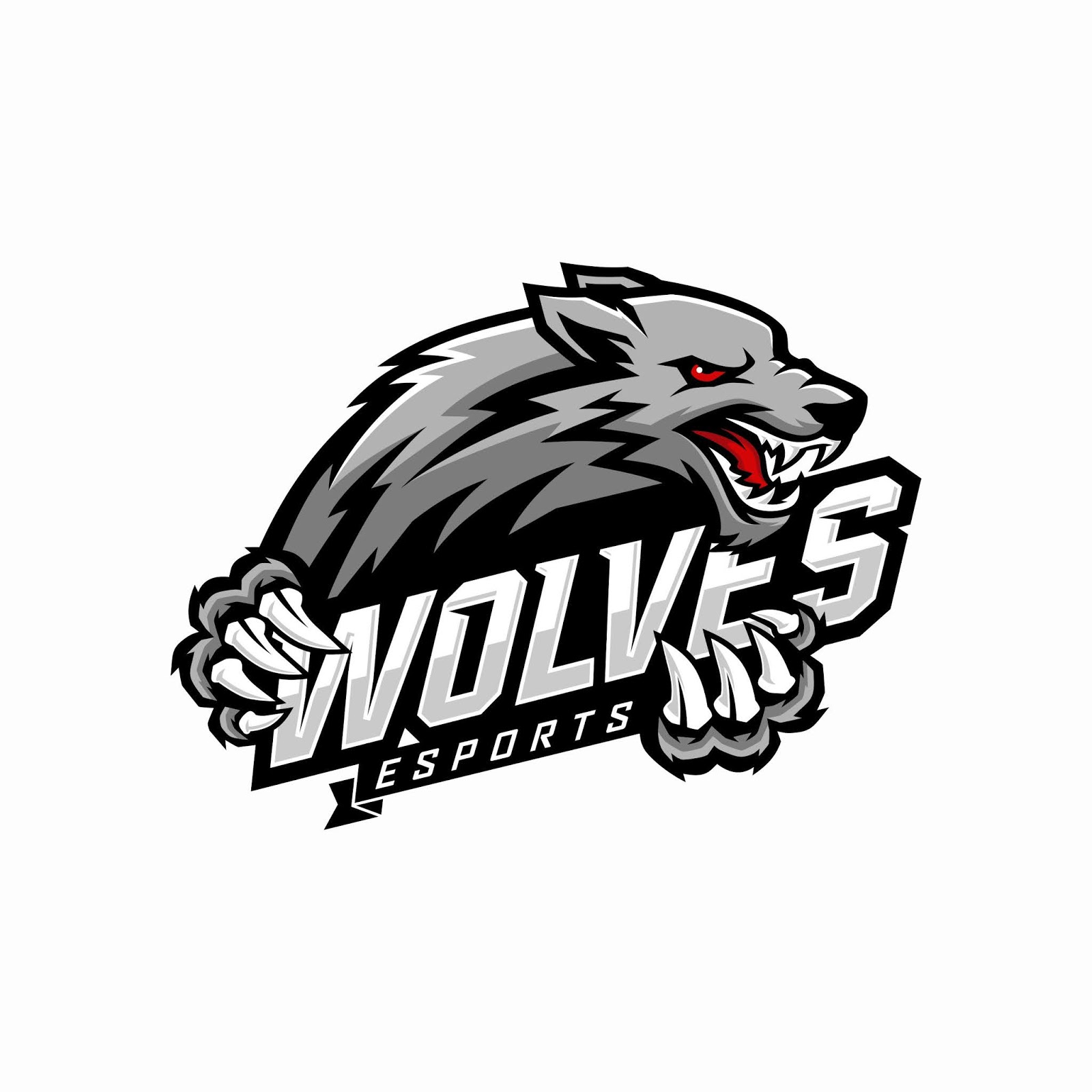 Wolf E Sports Logo Design Free Download Vector CDR, AI, EPS and PNG Formats