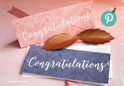 free congratulation money holder cards