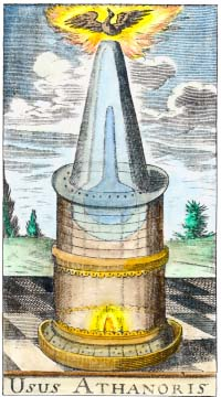 Engraving From Taeda Trifida Chimica 1674, Alchemical And Hermetic Emblems 2
