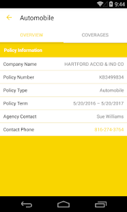 HAL Insurance - My Account- screenshot thumbnail