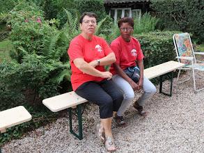 Photo: Avec Colette et ... au contrôle
