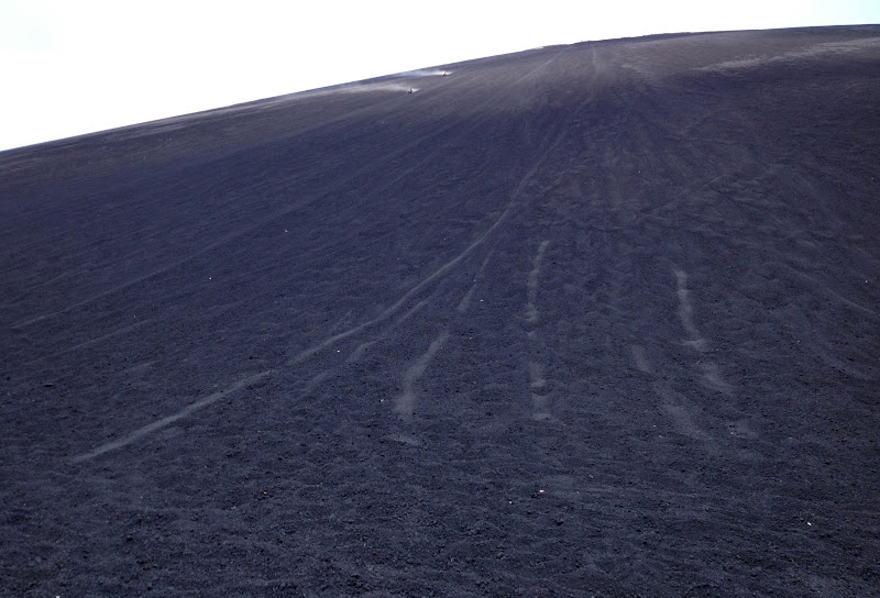 Coming down cerro negro