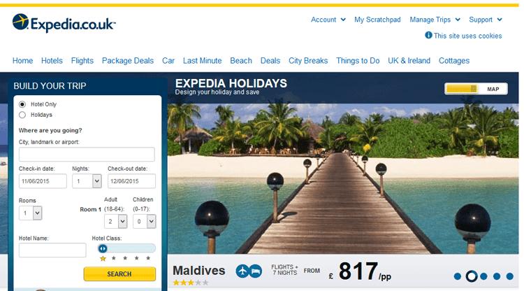 Explore Travel Possibilities with Expedia