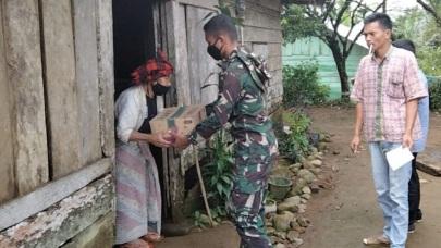 Sembako TMMD Kodim Tapsel Semoga Dikenang Warga Desa Siuhom