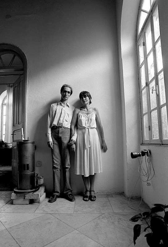 Scientist Alexander Grib and writer Julia Viner (brother and sister). Jerusalem, Israel. Early 1980s
