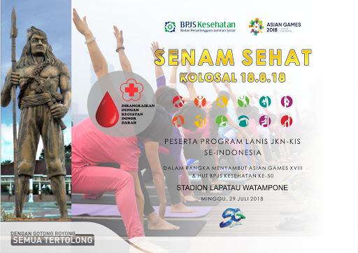 Besok, BPJS Kesehatan Cabang Watampone Akan Gelar Senam Kolosal