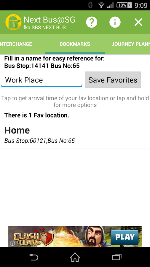 Bus Stop SG (SBS Next Bus)- screenshot