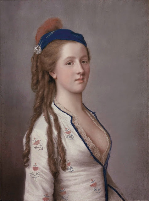 Jean-Étienne Liotard (attrib.) - Lady Ann Somerset, Countess of Northampton (at the age of about 14).