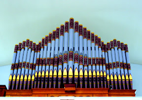 Organ at Old Otterbein - Restored through selling peanuts at Orioles games