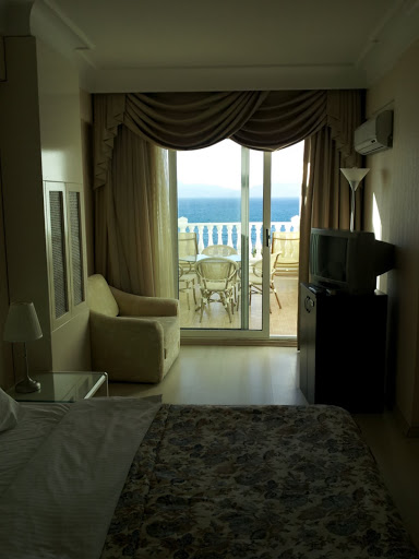 The view from my room at the Hotel Kismet, Kusadasi, Turkey.