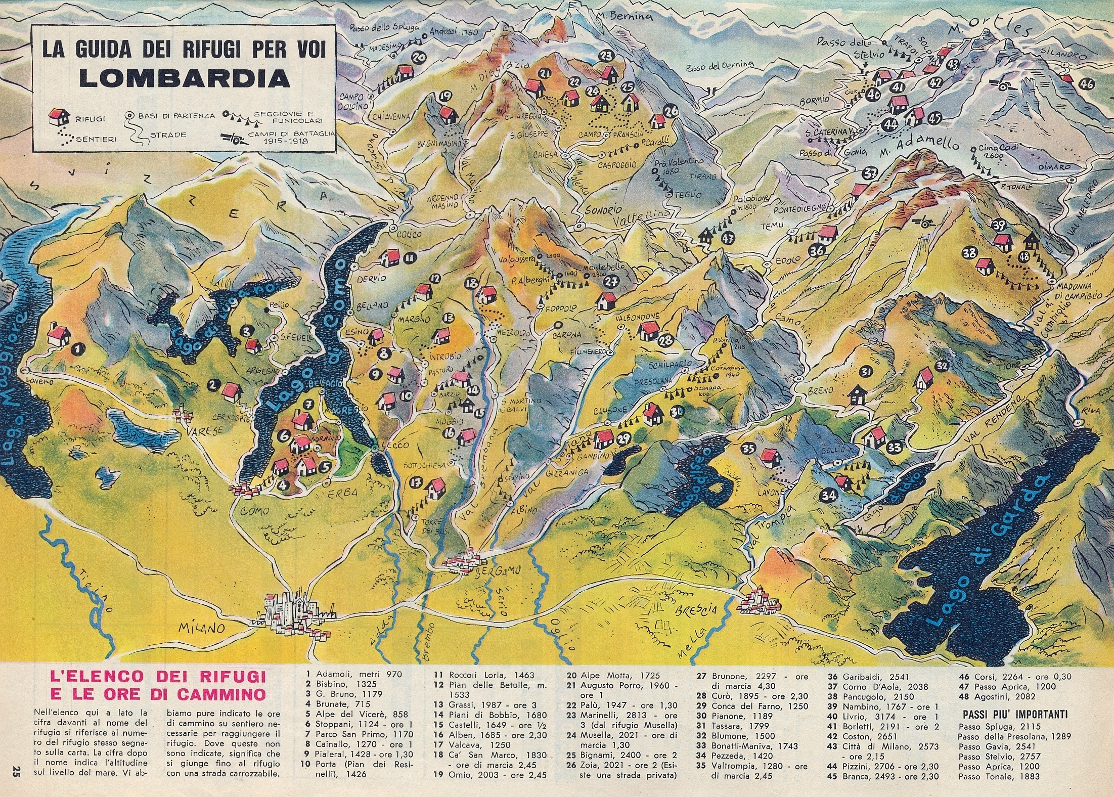 Montagne Lombardia Cartina