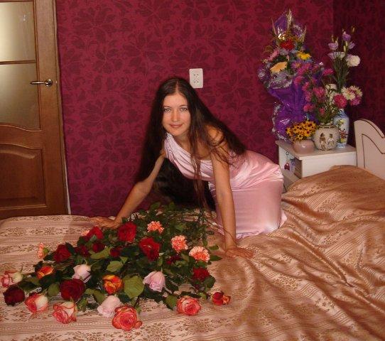 Hot long hair russian girl