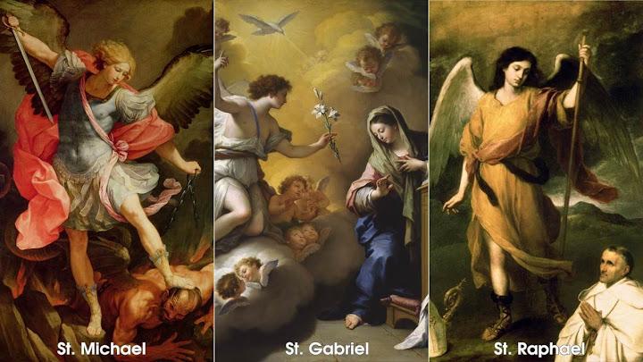 Các thiên thần của Thiên Chúa (29.9.2021 - Thứ Tư Tuần 26 - Các Tổng lãnh Thiên thần Michael, Gabriel, Raphael)