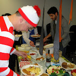 pot luck during halloween at climax media in Etobicoke, Ontario, Canada