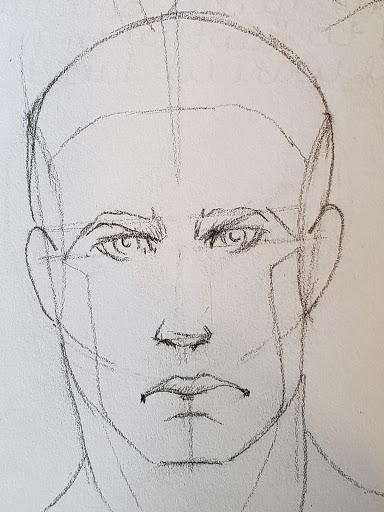 Morning Head Study following Howtodrawcomics.com