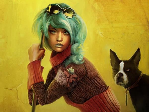 A Girl And A Dog, Fiction 1