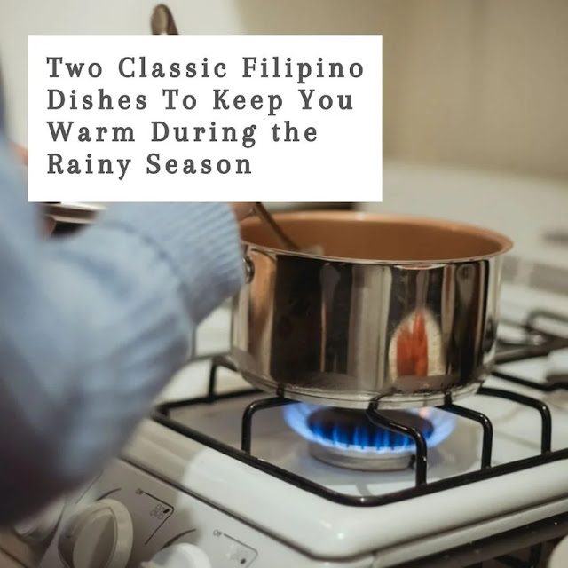Cooking a Filipino soup dish in a pot