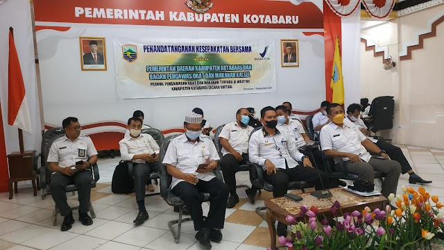 Via Zoom, Pemkab Kotabaru MoU dengan BPOM Kalsel