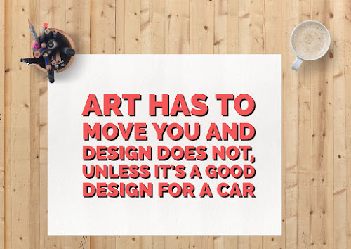 Art has to move you