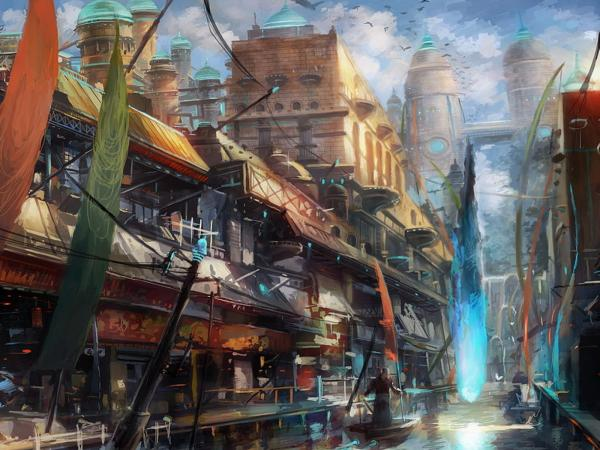 City Of Space River, Fiction 1
