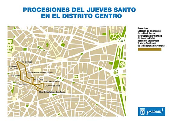 Cortes de tráfico en Madrid por las procesiones de Semana Santa 2013