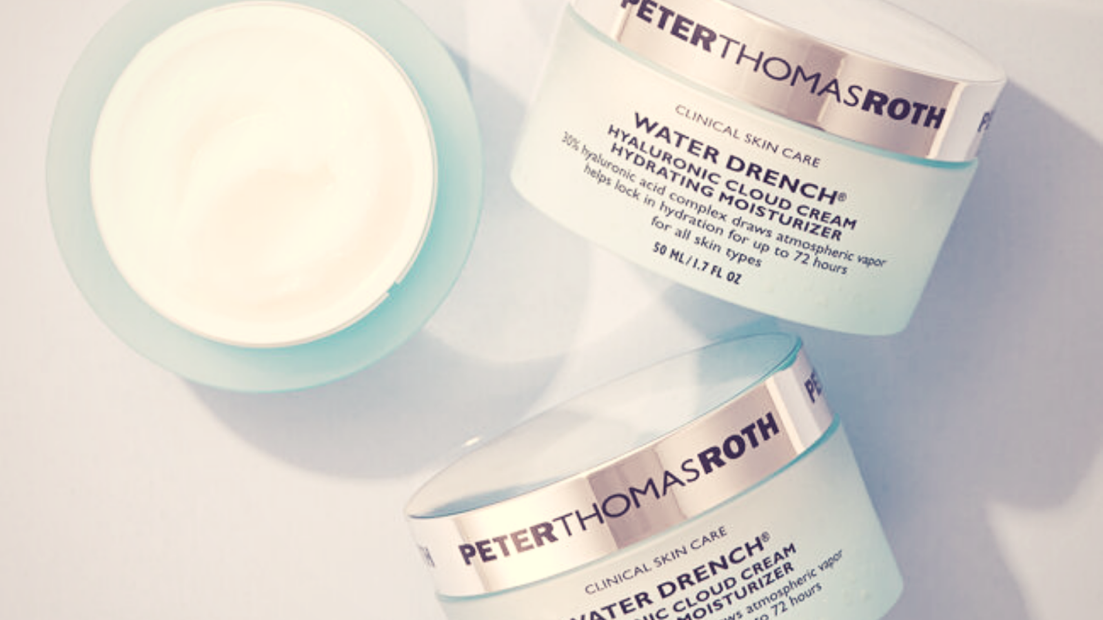 Three Peter Roth Thomas water drench cloud cream one with removed lid