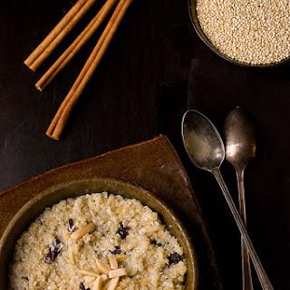 Cherry Almond Coconut Quinoa Porridge
