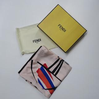 Fendi Silk Figural Scarf