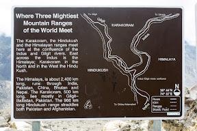 Where the three mightiest mountain ranges of the world meet, near Gilgit