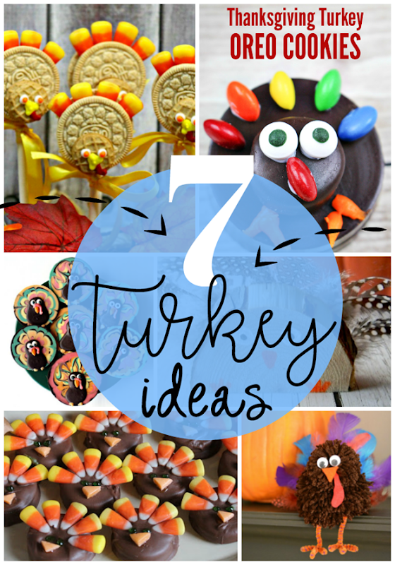 7 Turkey Ideas at GingerSnapCrafts.com #turkey #thanksgiving